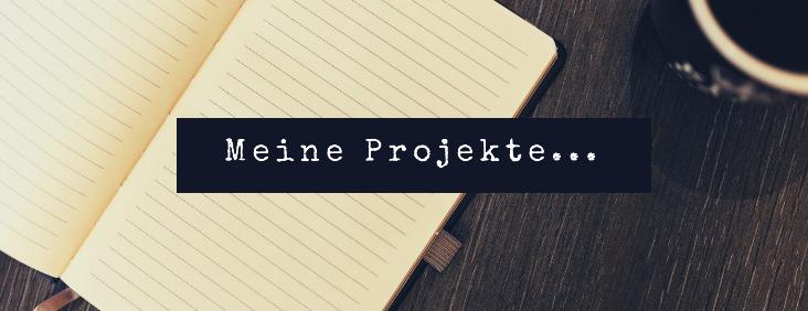"""Bild zeigt leeres Notizheft mit Überschrift """"Meine Projekte"""""""